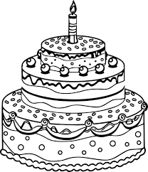 birthday cake coloring page olegandreev me