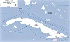 Caribbean Sea On Map by Of The Spanish American War 1898 Cuba