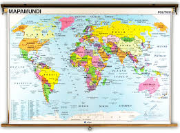 Spain Political Map by Spanish Language World Political U0026 Physical Classroom Maps On