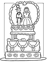 wedding coloring pages decorate your own wedding cake colouring