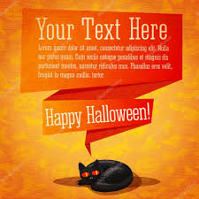 halloween cute background happy halloween cute retro banner or greeting card on craft paper