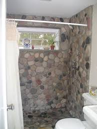 Natural Stone Bathroom Ideas Love The Rock Would Want A Different Type Of Doorway Remodeling