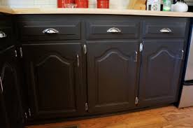 Painting Kitchen Cabinets Espresso Darker Refinishing Oak Kitchen Cabinets With Steel Handle Door And