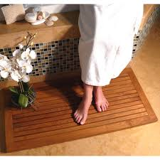 Teak Floor Mat Wine Cork Bath Mat With A Subtle Pattern Medium Size Of Shower