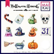 halloween clipart pumpkin sale halloween clipart watercolor clip art pumpkin witch cute