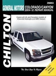 chevrolet colorado gmc canyon chilton automotive repair manual