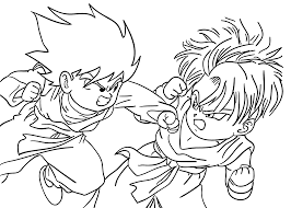 goten from dragon ball z coloring pages for kids printable free
