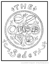 free passover coloring pages at shalom living passover