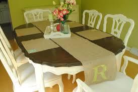 miss pink lemonade monogrammed burlap table runner u0026 placemats
