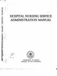 hospital nursing service admin manual 1 nursing public health