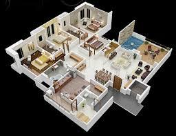 Simple 4 Bedroom Floor Plans Simple Modern Four Bedroom House Plans Modern House Design Idea
