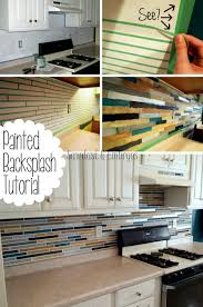 faux stone tile painting cheap kitchen backsplash alternatives