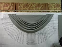 luxury sheer curtain valance waterfall swag valance w 60 cm h 50