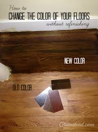 Hardwood Floor Restore Changing The Floor Color Without Refinishing Home Diy