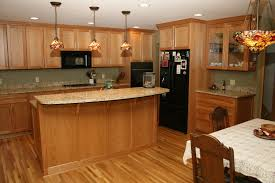 oak kitchen cabinets granite countertop protime construction