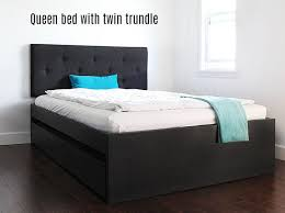 How To Build A Queen Platform Bed Frame by How To Build A Queen Bed With Twin Trundle Ikea Hack