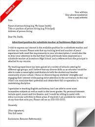 Teaching Resume Cover Letter  cover letterexamples samples free     cover letter cover letter teaching position sample of interest for       sample resume