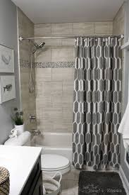 bathroom shower subway tile ideas white stained wooden frame glass