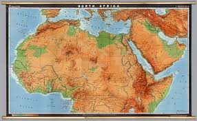 Physical Map Africa by North Africa Physical David Rumsey Historical Map Collection