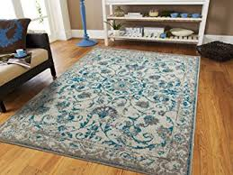 Green And Beige Rug Amazon Com Traditional Vintage Area Rug Distressed Rug Teal Blue