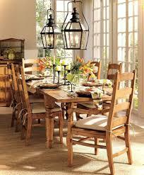 modern dining room lighting cool black varnished oak wood long