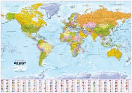 World Map Pinboard by Political World Map 1 30 Mio German World Maps