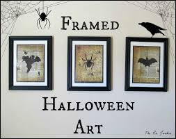 halloween wall art the pin junkie spooky creatures framed halloween art