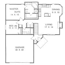 Ranch Style House Plans With Basement by Traditional Style House Plan 2 2 Basement Garage 1076 Sq Ft
