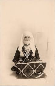 Mary\u0026#39;s niece Dorothy Tattersfield (later Cooke) wearing Serbian dress brought home by Mary - MJT-Dorothy1