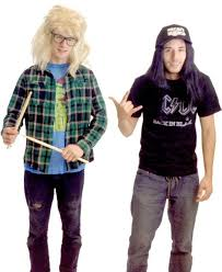 party city halloween costumes in stores amazon com wayne u0027s world garth and wayne costume set clothing