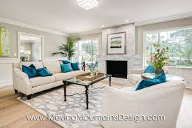 Teal Livingroom by Home Staging In Erin Ontario Traditional Living Room San Marino