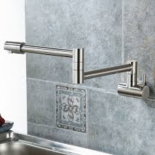 Kitchen Wall Mount Faucet Eyekepper Wall Mounted Pot Filler Kitchen Faucet With Double Joint
