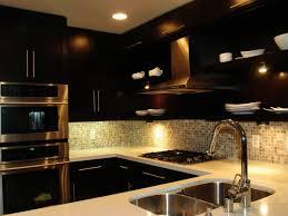 Kitchen Backsplash Design Smart Design Kitchen Backsplash Idea With Dark Cabinet Of Kitchen