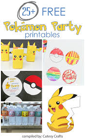 happy halloween banner free printable 25 free pokemon party printables cutesy crafts