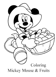 disney mickey mouse u0026 fruits coloring pages learn to coloring