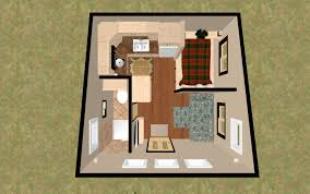 3d top view of the 196 sq ft 3 bed chatterbox micro homes under