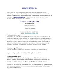Officer Resume Sample Resume For Security Guard Pdf And Security Officer Resume