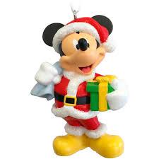 hallmark disney mickey mouse as santa claus ornament walmart com