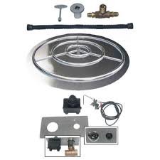 Fire Pit Burner by Fire Pit Pan Ring W Spark Ignition Dreffco