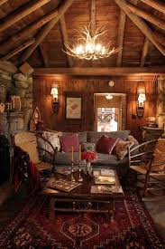 Lodge Living Room Decor by Best 20 Rustic Cabin Decor Ideas On Pinterest Barn Houses