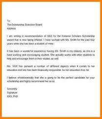 Of Recommendation Examples For Students college recommendation letter