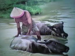 Lukisan kerbau dan petani 1