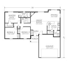singlestoryopenfloorplans single story plan 3 bedrooms 2 intended
