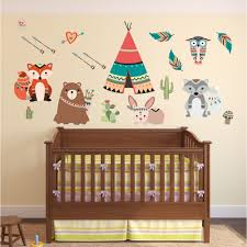 Tree Decal For Nursery Wall by Woodland Wall Stickers Enchanted Interiors