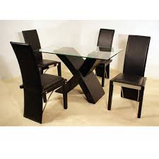 Chair Irene Dining Room Set Lacquered Table  Chairs And Small - Black dining table for 4