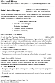 Sample Resume For Retail Manager by Sample Sales Manager Resume Sales Resume Writing Services Retail