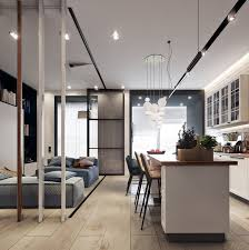 beautiful studio apartment designs combined with modern and chic