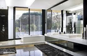Modern Master Bathroom Ideas Modern Rustic Master Bathroom Ideas Bathtub Dark Pattern Tiles