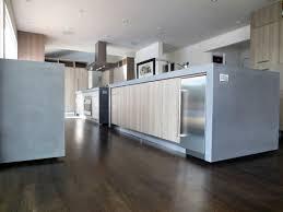 contemporary kitchen renovation with concrete countertops