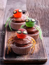 halloween decorated halloween decorated sweet spider cupcakes stock photo 547511962